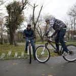 parcare de biciclete Petrom in Parcul Bazilescu